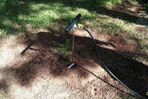 Aplicação de produtos específicos e eficazes para extinção dos cupins de solo.